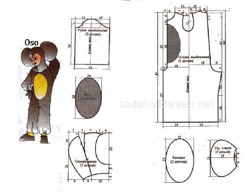 Como hacer un disfraz casero de oso con patrones | Todo Halloween#.Uo1zGXSFDIW