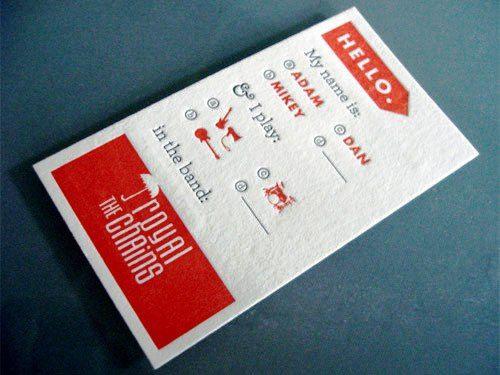Desain Kartu Nama Unik tidak Biasa | press printing business card