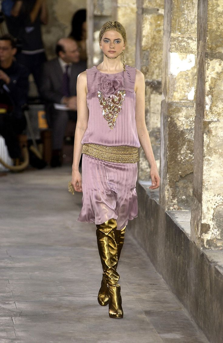 The dress is chanel - Chanel At Couture Fall 2003