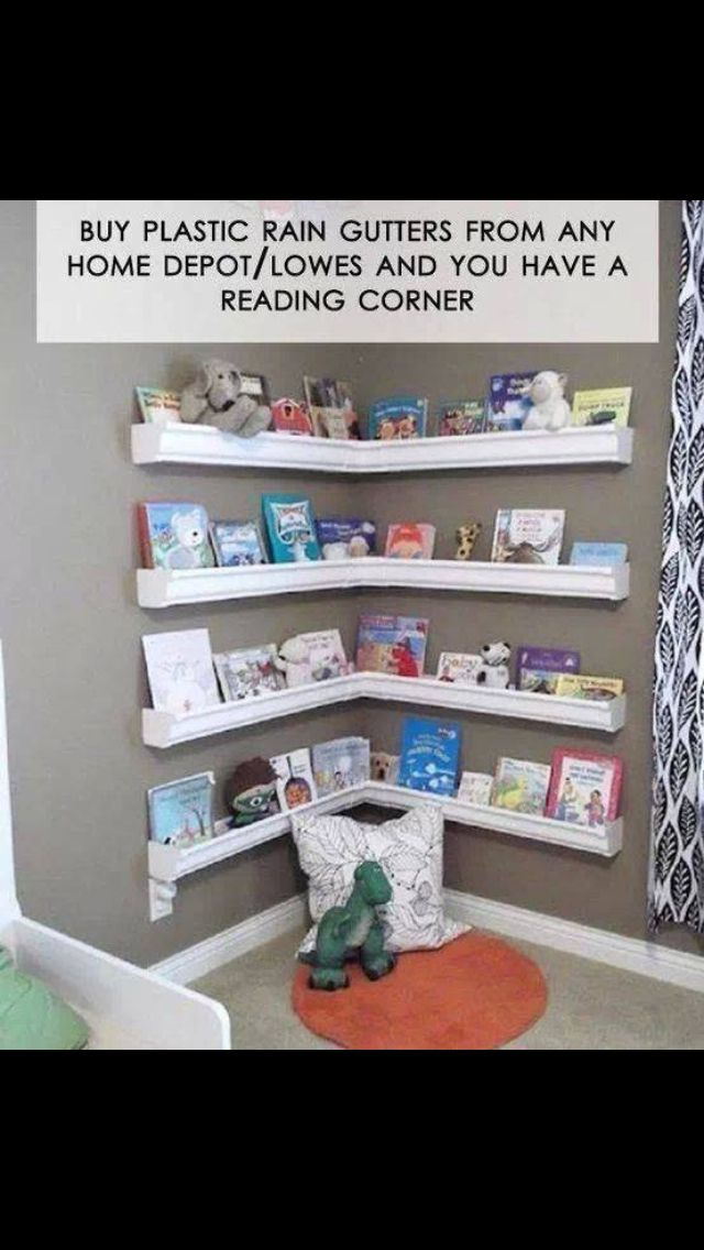 Cute reading corner idea.
