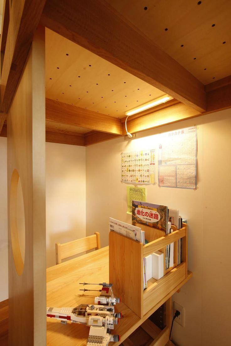 S邸 のぼり棒付きの楽しいロフトベッド マンションリノベーション事例 Suvaco スバコ ロフトベッド ロフトベッド 子供部屋 ロフトベッド 階段