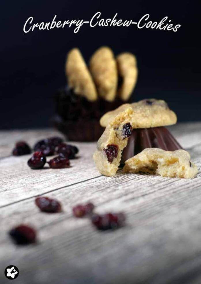 chilibluetendotcom - Cranberry-Cashew-Cookies  #laktosefrei