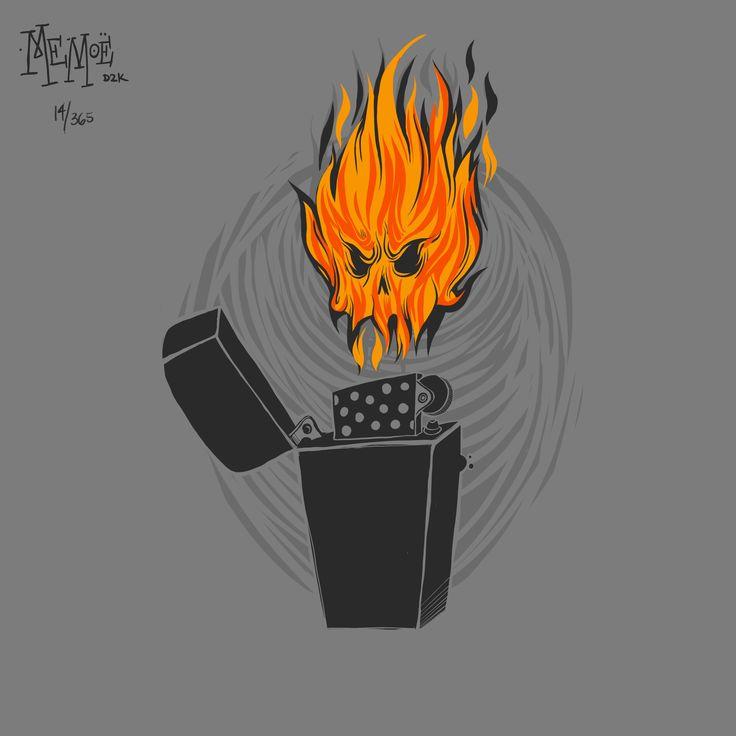 14 365rounds fire flame flama colima encendedor zippo