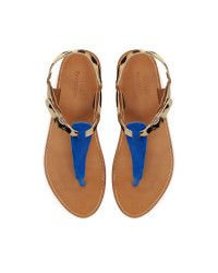 Zara | Blue Leopard Print Sandal | Lyst