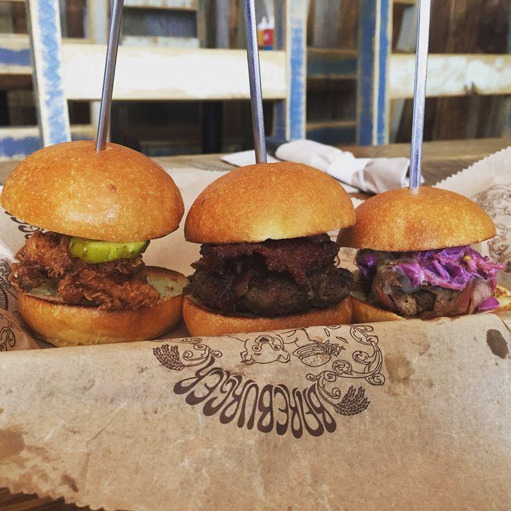 Heavenly trio @bareburgertoronto Fried Chicken, Grass Fed Beef and Brisket.
