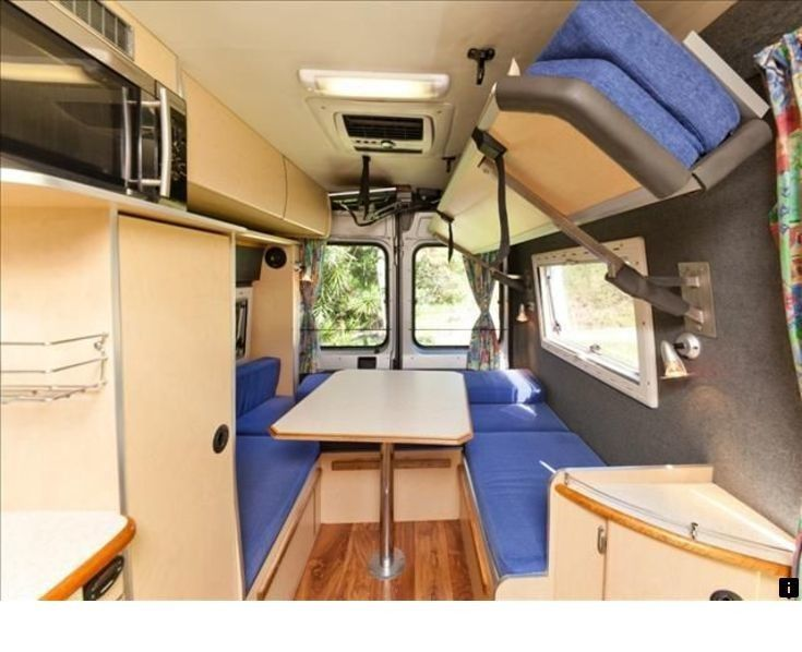 Interior Of The Westfalia Columbus Camper Van Built On The Fiat