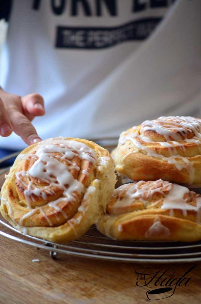 Rollos de canela o Cinnamon rolls - Las mejores recetas de Huga