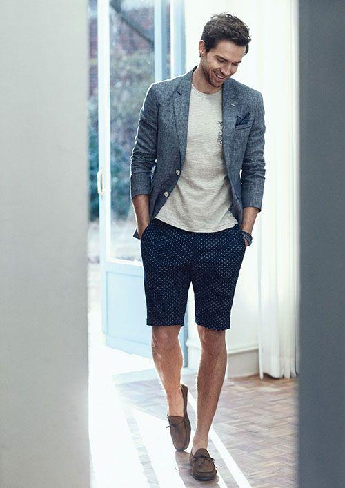 2015-06-07のファッションスナップ。着用アイテム・キーワードはジャケット, ハーフパンツ, ポケットチーフ, モカシン, リネンジャケット, ルックブック, Tシャツ,Olzenetc. 理想の着こなし・コーディネートがきっとここに。| No:112037