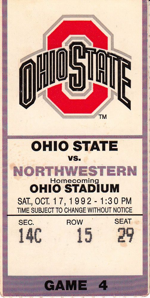 1992 northwestern vs ohio state #Football ticket stub - ohio stadium from $5.99
