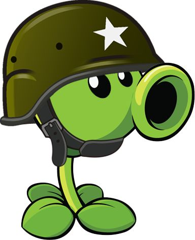 Plants vs Zombies 2 Gatling pea (R) by illustation16 on DeviantArt