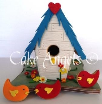 Bird Cookies checking out their new Birdhouse Cookie home ...