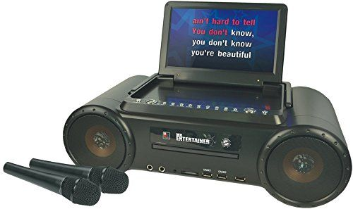 Partybox CD+G Karaoke Machine & Portable DVD Player. Includes Two Microphones