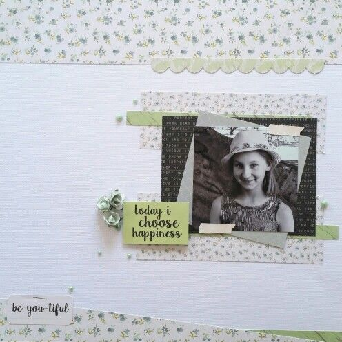 Kaisercraft : #Me collection : Be-you-tiful layout by Amanda Baldwin