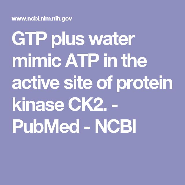GTP plus water mimic ATP in the active site of protein kinase CK2. - PubMed - NCBI