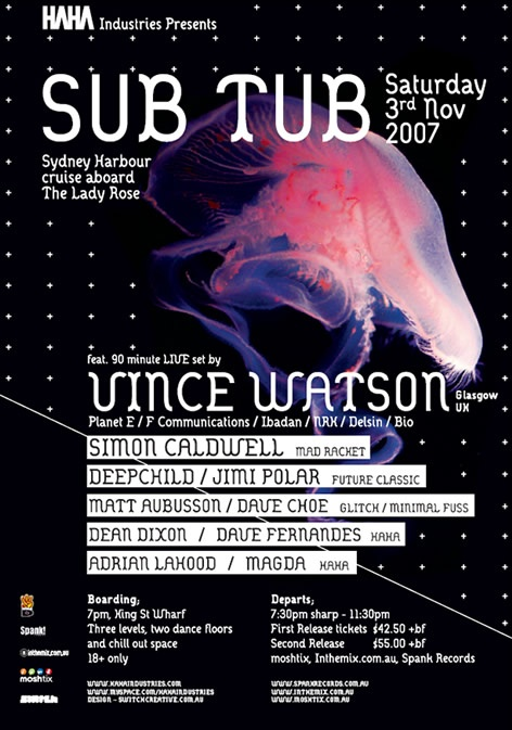 Sub Tub Boat Party with Vince Watson