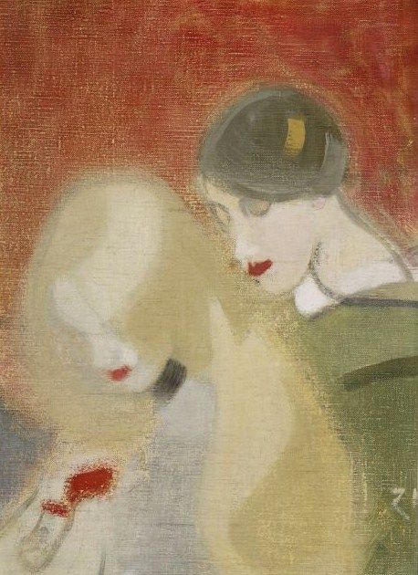 Helene Schjerfbeck (Finish 1862–1946) [Realism, Impressionism, Expressionism, Romanticism] The Family Heirloom, 1915.