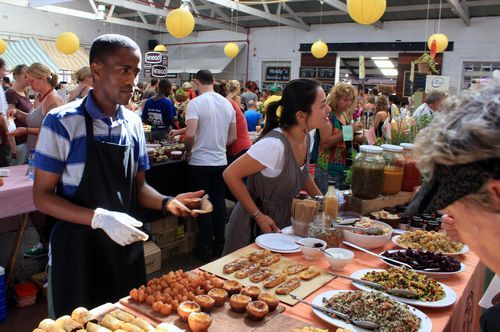 Neighbourgoods Market on 373 Albert Road in Woodstock at the Old Biscuit Mill, Cape Town.