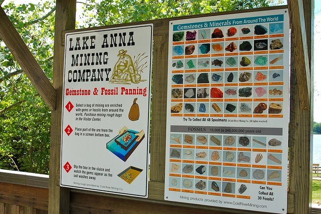Pan for gold at the Lake Anna Mining Company in Virginia - Lake Anna State Park