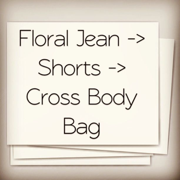 It all started because i wanted floral shorts from a pair of jeans that i had. the bag idea just came to me while i was folding the jean leg to put it away :).