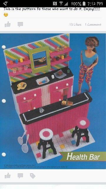Health Bar, Annie's plastic canvas patterns fit Barbie fashion dolls