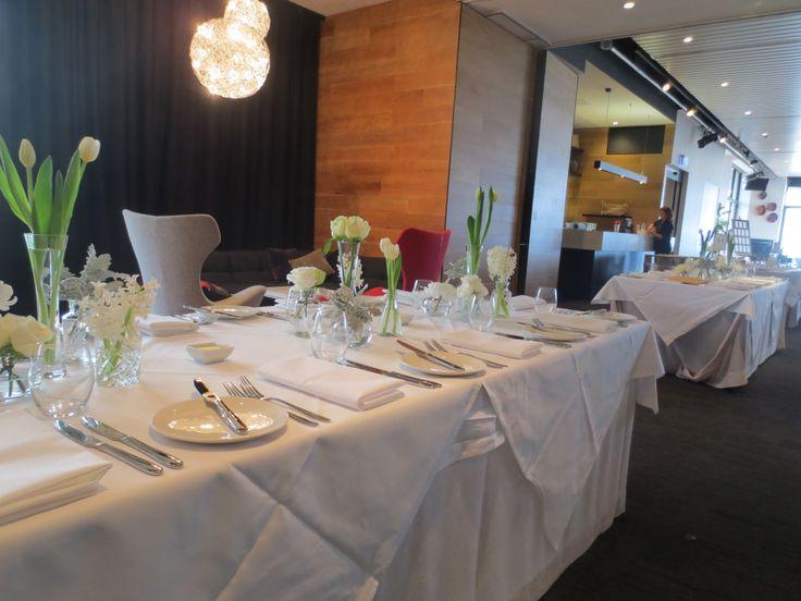 A table setting at Encore, St Kilda