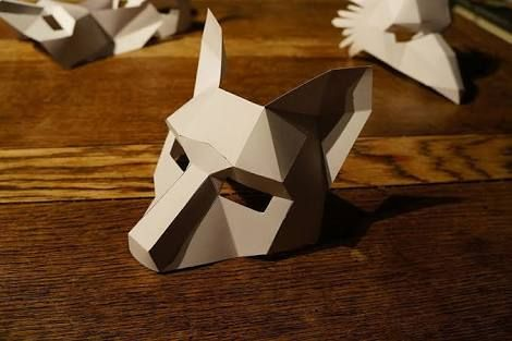 Image Result For 3d Paper Mask Template Free Printable