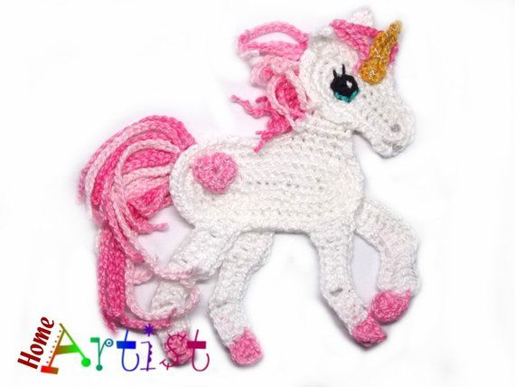 Crochet applique unicorn crochet crochet crochet animal