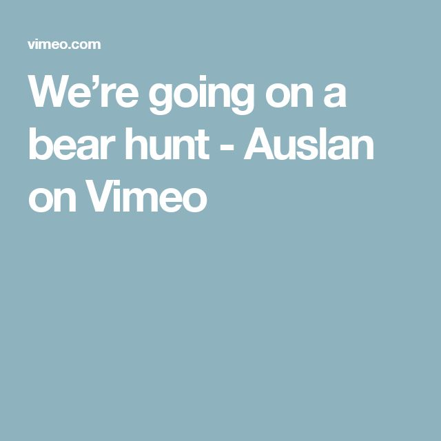 We're going on a bear hunt - Auslan on Vimeo