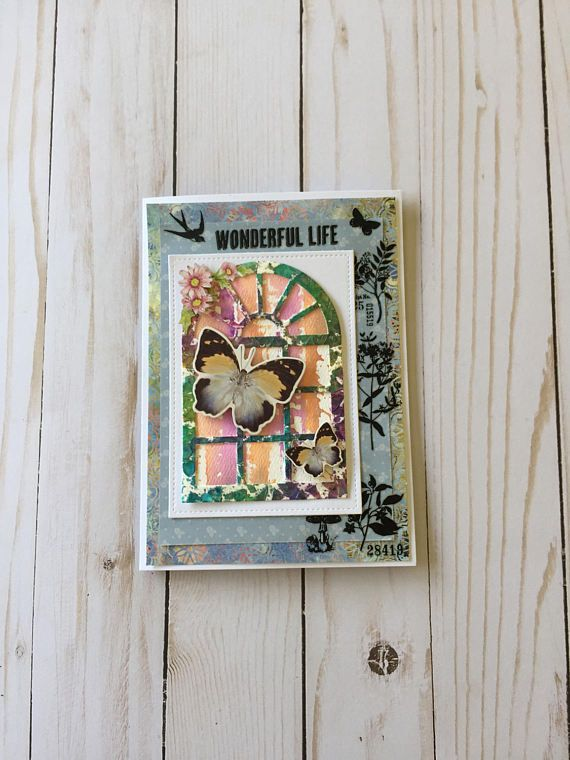 Mother's Day Card Butterfly Mother's Day Card Floral