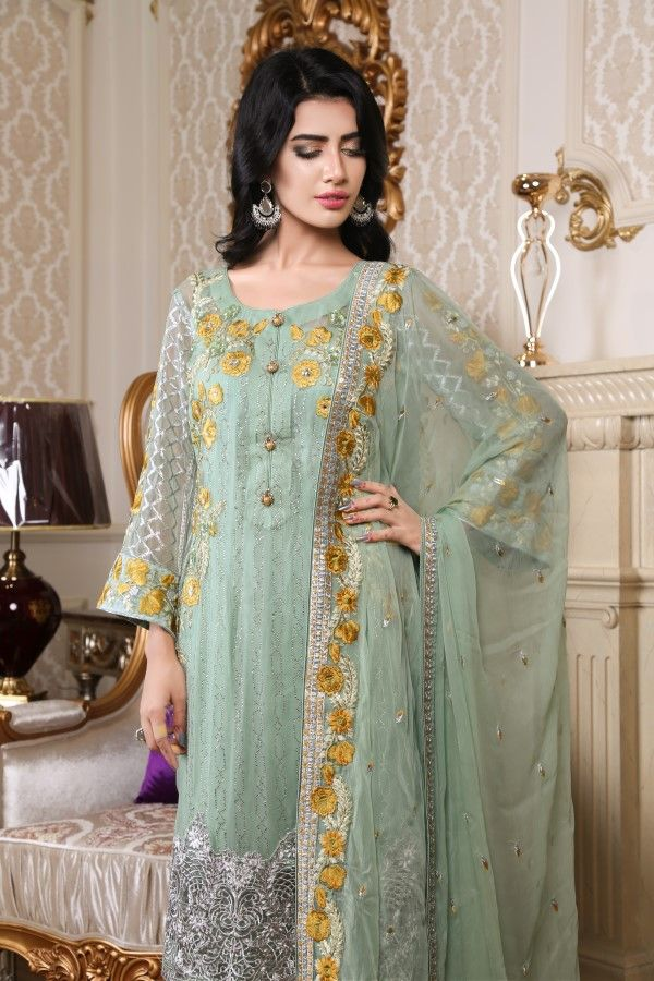 24afb14aed ZEBTAN Royal Chiffon Collection Unstitched Embroidered | Royal ...