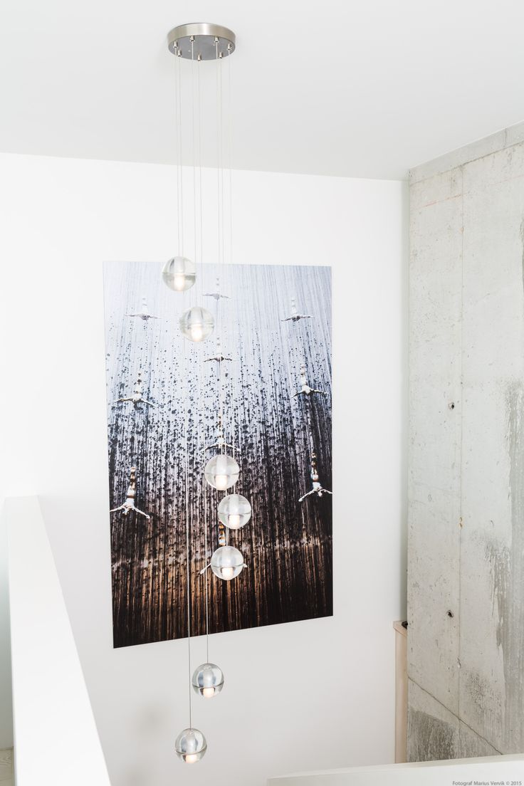 Chandelier Bocci 14.7. Handmade in recycled glass