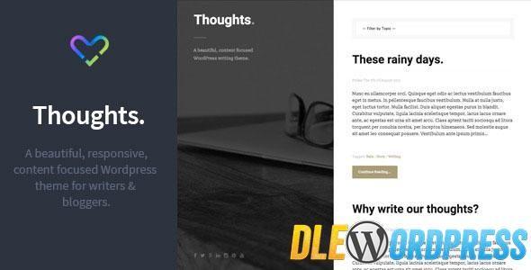 Thoughts  Responsive WordPress Blogging Theme Free at DLEWordPRess