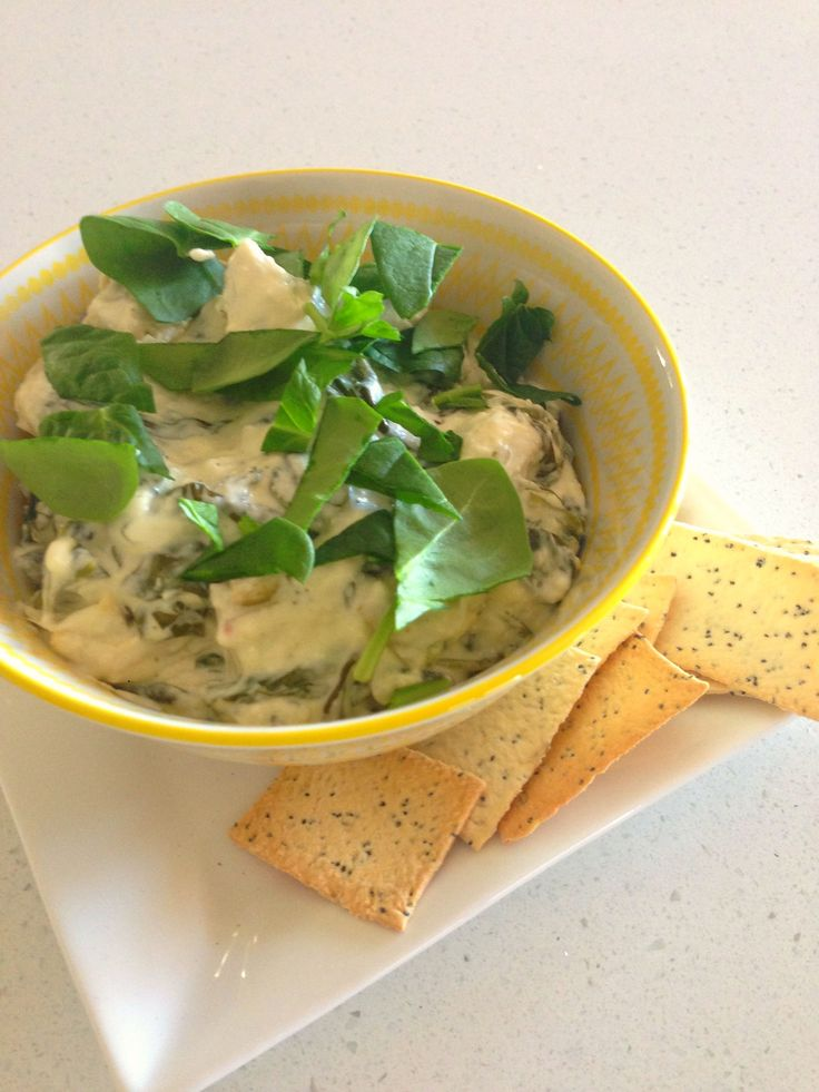 Warm cheese and baby spinach dip made in the slow cooker: I am that person who is more than happy with dip, cheese, crackers and wine for dinner on a Saturday night when I'm with friends. Last night was such a night – an impromptu invite to a friend's hou…