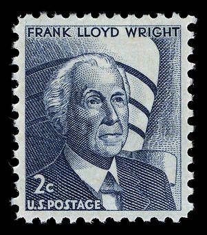 United States Master Collection, Scott 1280, Prominent Americans series, Frank Lloyd Wright (1965-78)