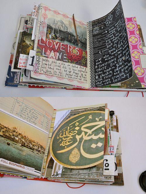 desert-dreamer:  istanbul travel journal  mary ann moss  Inspiration for having students make art journals.