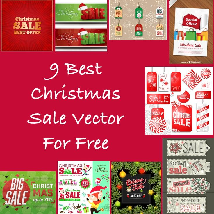 Below is my list of top Christmas Sale vector for free.
