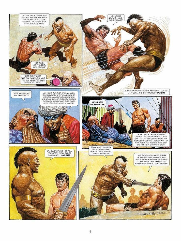 Train the acrobat to sword fighting.  Storm 2 - De Laatste Vechter, 1979. German edition, 2008.