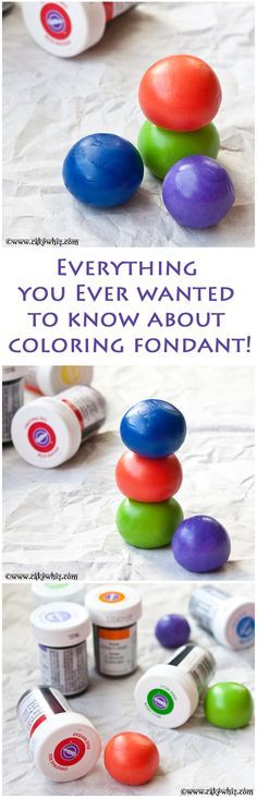 EVERYTHING you ever wanted to know about coloring fondant plus the best recipe for homemade marshmallow fondant! From cakewhiz.com