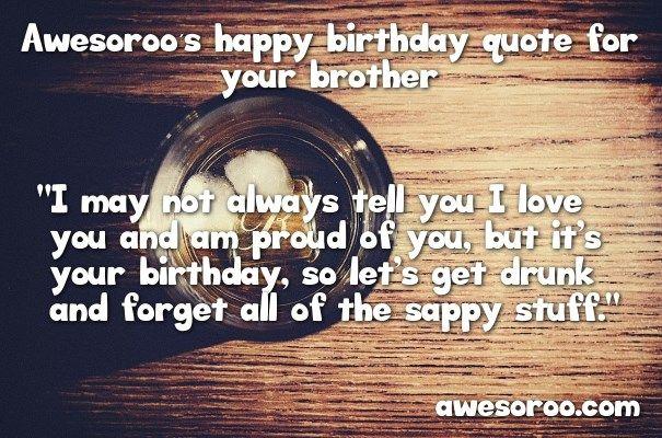 getting drunk for birthday wish