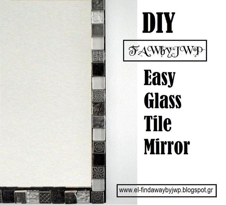 DIY Easy Glass Tile Mirror Frame ~ via www.hometalk.com/11096500/diy-easy-glass-tile-mirror-frame?se=fol_new-20151111-1&utm_medium=email&utm_source=fol_new&date=20151111