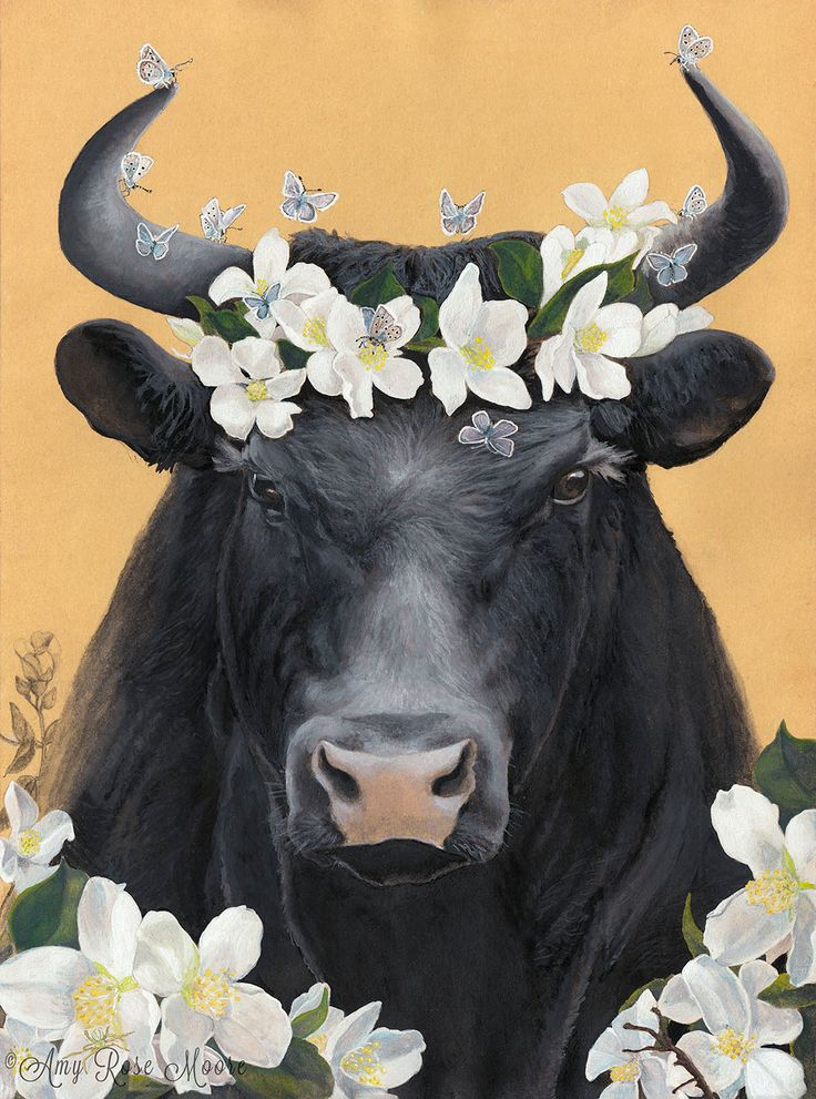 Ferdinand the Bull (and his flowers) - 8x10+ - Watercolor Illustration, childrens book art, childrens wall art, animal nursery print by amyrosemoore on Etsy https://www.etsy.com/listing/232365560/ferdinand-the-bull-and-his-flowers-8x10