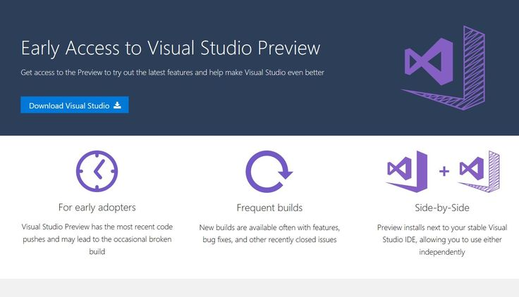 Microsoft today launched the new Visual Studio Preview program. Similar to the Windows and Office Insider program, Visual Studio Preview program will allow users to try out the latest features coming to Visual Studio before its public release.   #Microsoft #News #Visual Studio