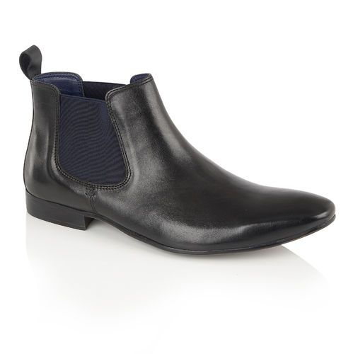 Chelsea Boots In Black Leather - Black Silver Street London XWoFqClS