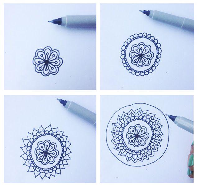 Las 25 mejores ideas sobre como dibujar mandalas en - Como hacer dibujos en la pared ...