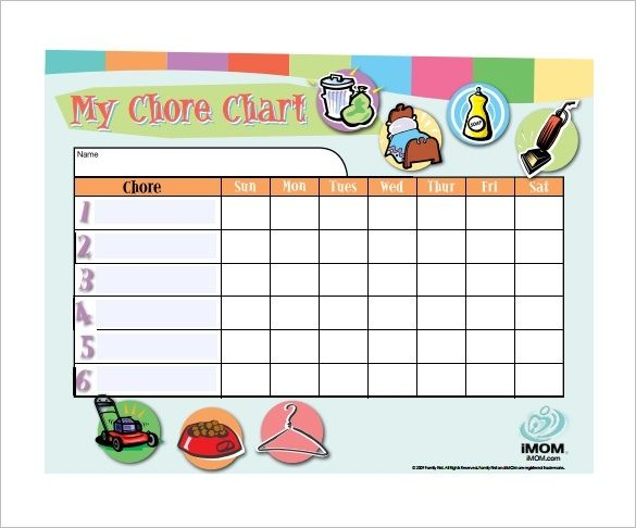 Blank Chore Chart Pdf