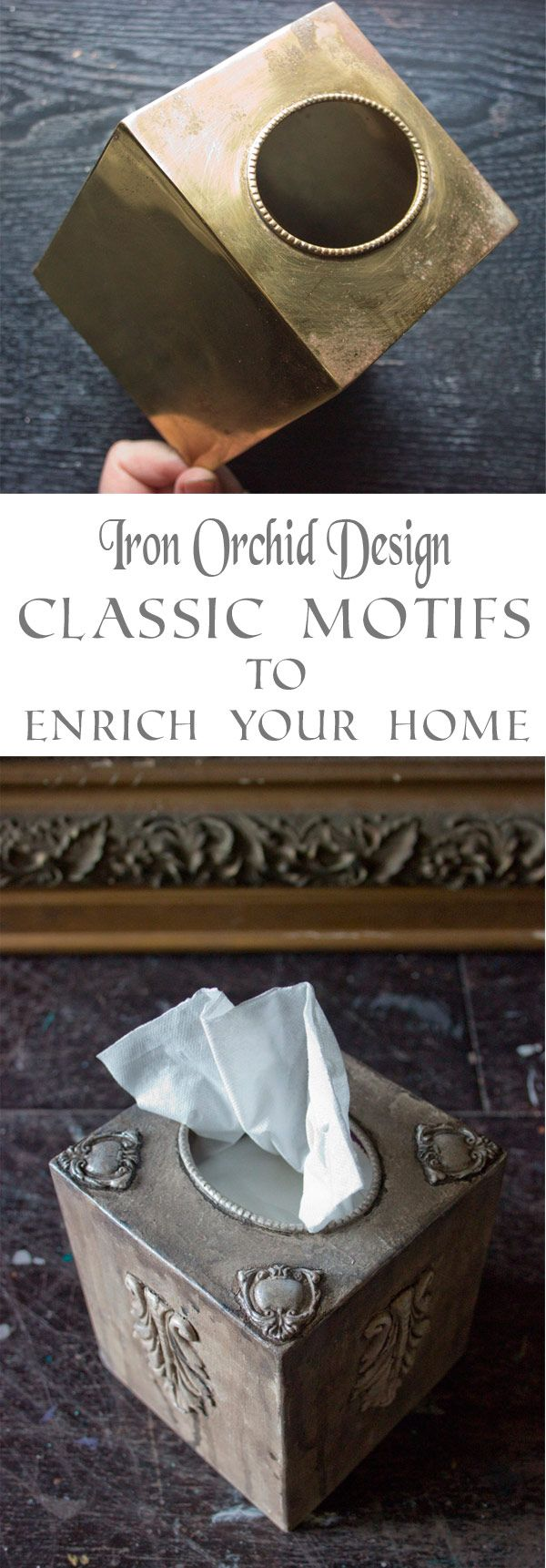 Heather is simply amazing>>> Use Iron Orchid Design Moulds and simple paint finishing techniques to take your dated accessories to the next level. Step-by-step guide.