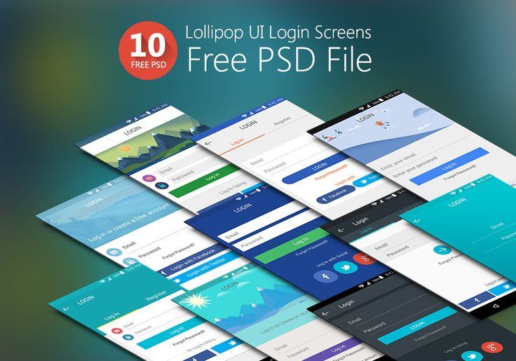 <p>Download this Amazing Set of 10 Lollipop UI Login Screens Free PSD Files from theninehertz. Best Lollipop UI Login Screen Design PSD's to download for free and you can modify it as per your requirement. This Login UI Kit is…</p>