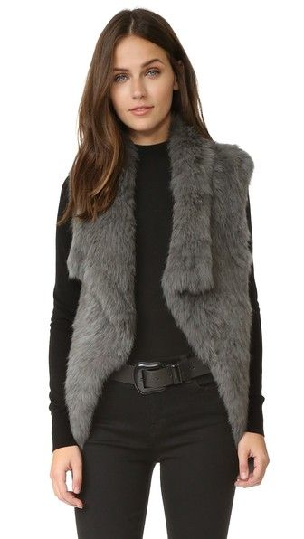 Meteo by Yves Salomon Rabbit Fur Vest