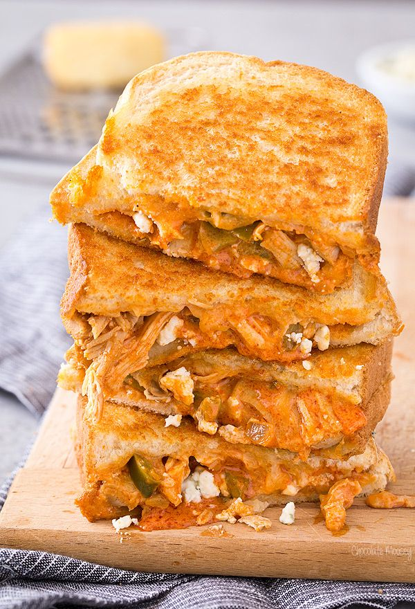 Admit it - you love buffalo chicken dip so much, you wish you could eat it as a meal. Good thing you can turn it into dinner with Buffalo Chicken Grilled Cheese! Made with smoked cheddar and blue cheese. Perfect for National Grilled Cheese Month.
