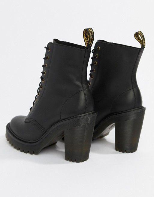 Dr Martens Kendra Black Leather Heeled
